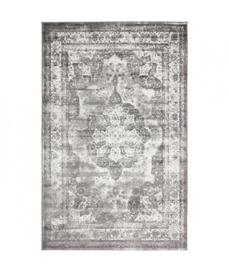 NAZAR Tapis de salon Kutha - 120 x 160 cm - Gris