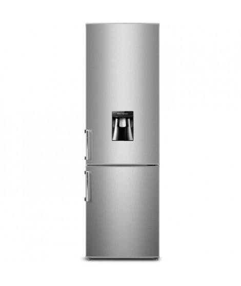 CONTINENTAL EDISON CEFC262DS - Réfrigérateur combiné - 262L (196L + 66L) - Froid statique - A+ - L 55 x H 180 cm - Silver