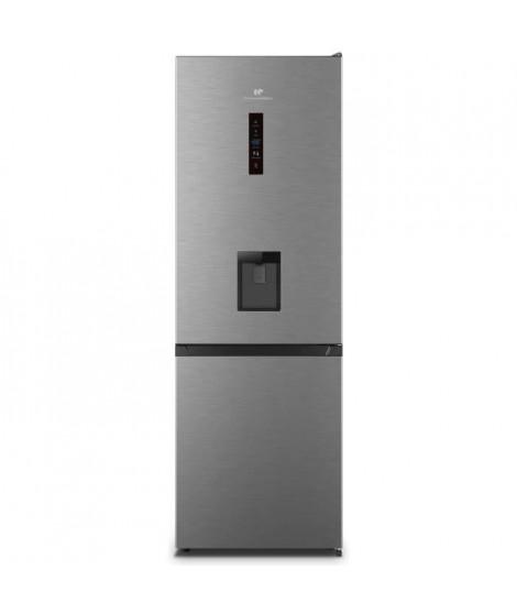 CONTINENTAL EDISON CEFC288NFIX Réfrigérateur combiné 288L (205L+83L) - Total No Frost- 1,784 x59,5x59,2 cm - A+ - Inox