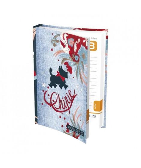 CHIPIE Agenda 400118743 - 12 x 17 cm - 1 jour par page - Couverture Souple - 384 P