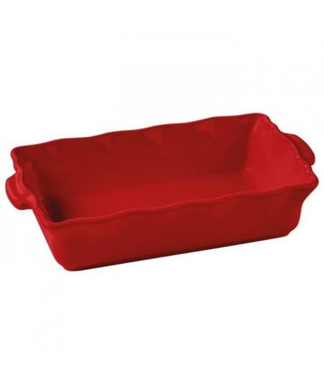 ABALONE EDITION - 054041020 - Plat rectangle - 41cm - Festonné - Couleur Cerise
