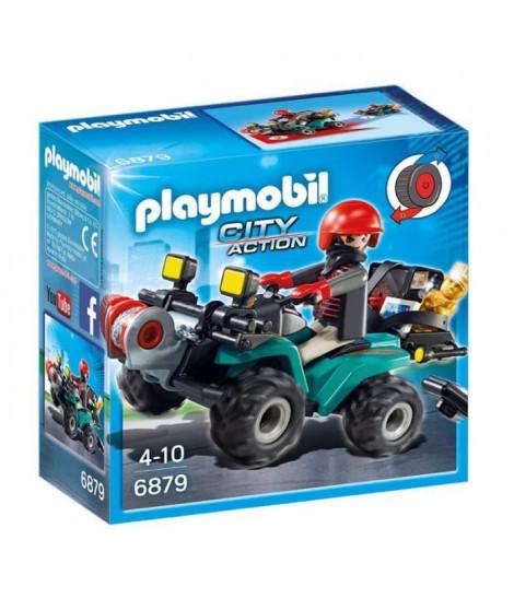 PLAYMOBIL 6879 - City Action - Quad avec Treuil et Bandit