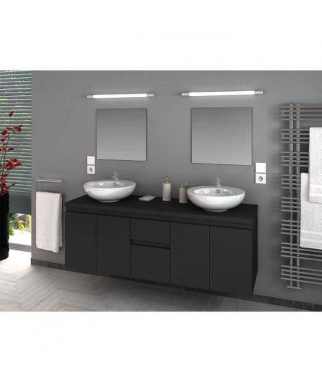 CINA Ensemble salle de bain double vasque L 150 cm - Gris mat
