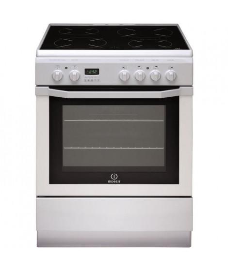 INDESIT I6V6C6A(W)FR-Cuisiniere table de cuisson vitrocéramique-4 zones-Four électrique-Catalyse-59 L-A-L 60 x H 85 cm-Blanc