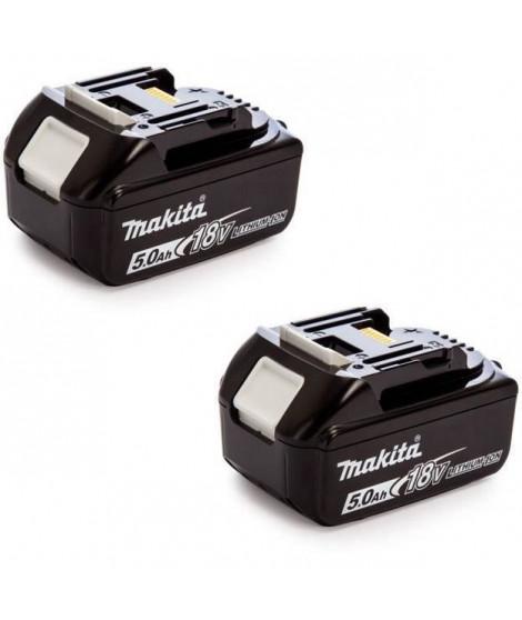 MAKITA Pack de 2 batteries 18V 5Ah Li-ion avec témoin de charge