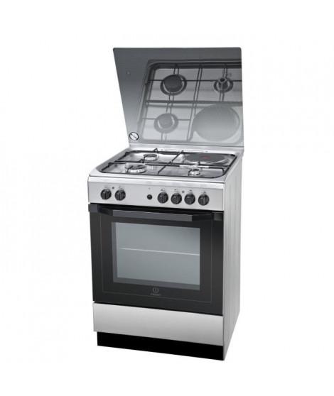 INDESIT I6M6HAGXFR - Cuisiniere table mixte gaz / électrique-4 zones-4800W-Four électrique multifonction-Hydrolyse-59L-Inox