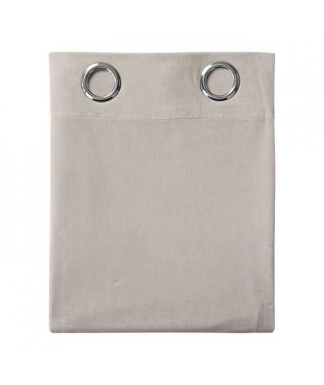 TODAY Rideau Velvet 100% polyester - 140 x 240 cm - Beige