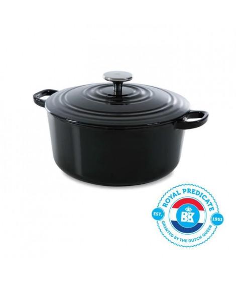 BK Cookware H6071.524 BK Bourgogne Cocotte en Fonte Ronde - 24 cm - 4.2L - Revetement émaillé - Couvercle avec Anneaux