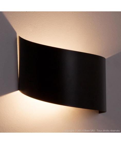 VIRA Applique tôle acier 16x17x12 cm Noir