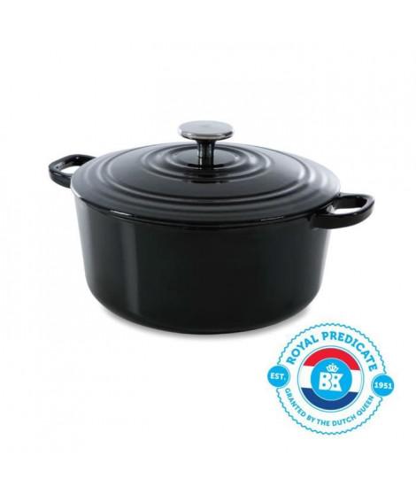 BK Cookware H6071.528 BK Bourgogne Cocotte en Fonte Ronde - 28 cm - 6.7L - Revetement émaillé - Couvercle avec Anneaux