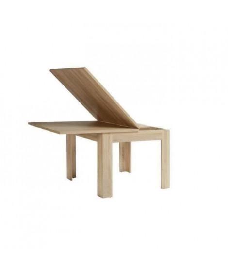 FINLANDEK Table a manger extensible NUORI 6 a 8 personnes style contemporain décor chene clair - L 96-190 x l 95 cm