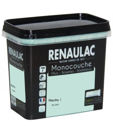 Peinture murale monocouche multi-support 0,75 L menthe satin Murs / Boiseries / Radiateurs - RENAULAC