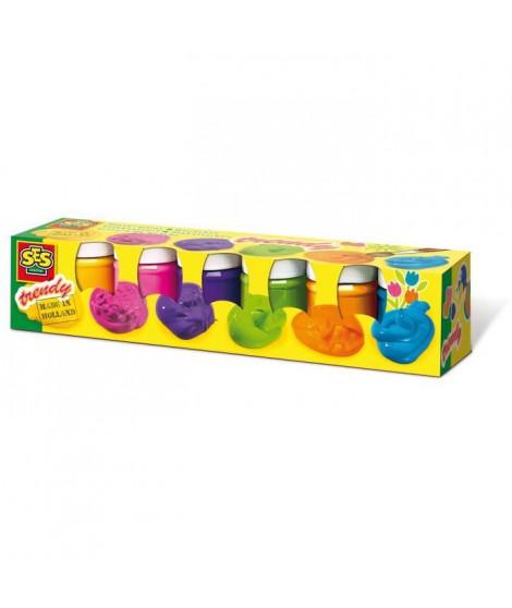 SES CREATIVE Lot de 6 pots de gouache Tendance - 50ml