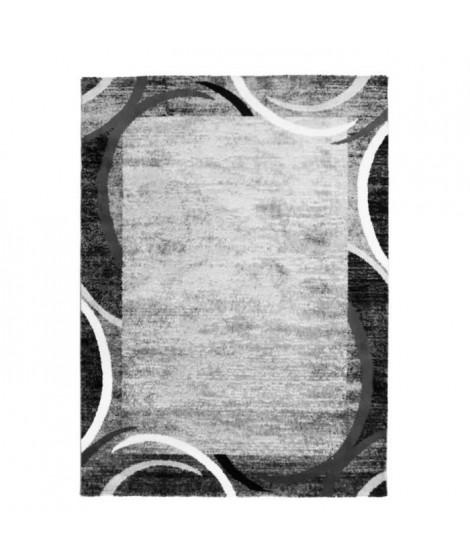 SUBWAY ENCADRE Tapis de salon en polypropylene - 200x290 cm - Gris