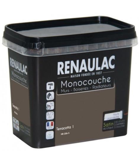 Peinture murale monocouche multi-support 0,75 L terracota satin Murs / Boiseries / Radiateurs - RENAULAC