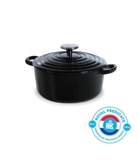 BK Cookware H6071.520 BK Bourgogne Cocotte en Fonte Ronde - 20 cm - 2.5L - Revetement émaillé - Couvercle avec Anneaux