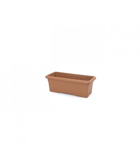 PLASTIKEN Jardiniere rectangulaire Ø 60 X 26 cm - Terracotta