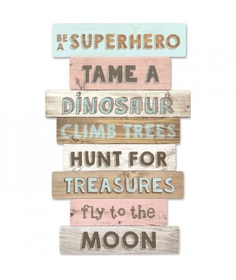 TANUKI Panneaux en bois décoratif - Be a Super Hero