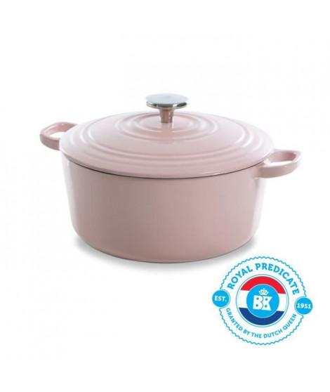 BK Cookware H6078.528 BK Bourgogne Cocotte en Fonte - Ronde - 28 cm - 6.7L - Revetement émaillé - Couvercle avec Anneaux
