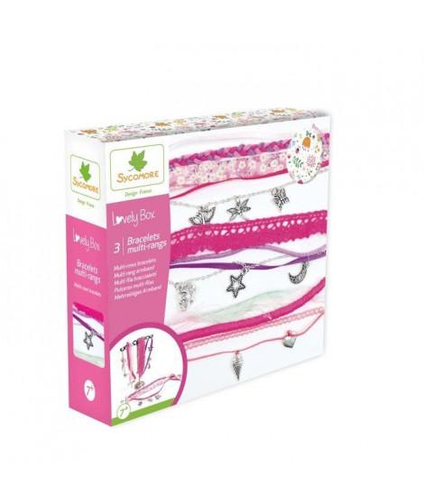 SYCOMORE - Kit de loisir créatif enfant - Bracelets multi-rangs - 3 projets - DIY - Lovely Box Collector - Des 7 ans