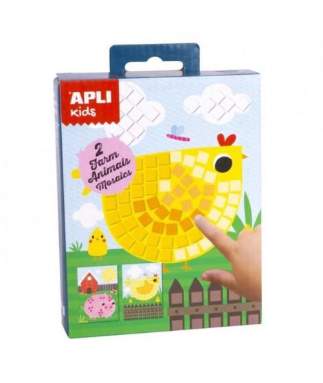 APLI Mini kit mosaique Animaux de la ferme - En mousse