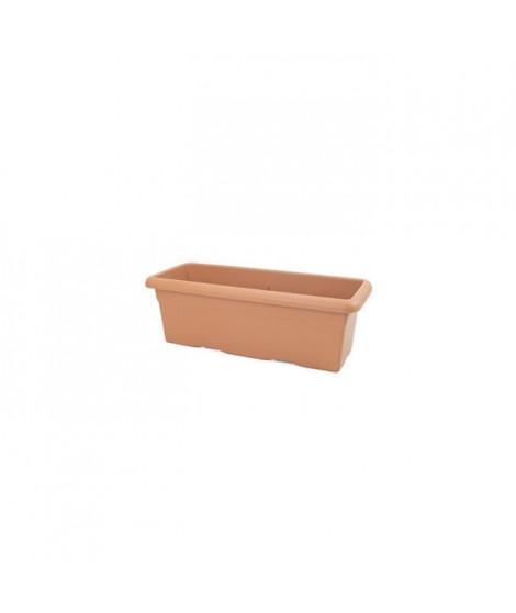 PLASTIKEN Jardiniere rectangulaire Ø 80 X 26 cm - Terracotta
