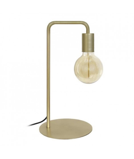 NORWICH Lampe a poser en acier - L22 x P18 x H45 cm - Or - Ampoule LED 4W E27 Noir comprise