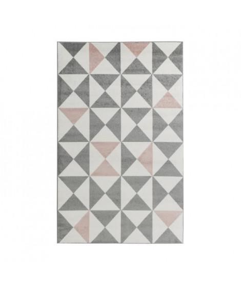 FORSA Tapis de salon en polypropylene - 120 x 160 cm - Rose