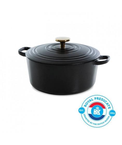BK Cookware H6079.524 BK Bourgogne Cocotte en Fonte - Ronde - 24 cm - 4.2L - Revetement émaillé - Couvercle avec Anneaux
