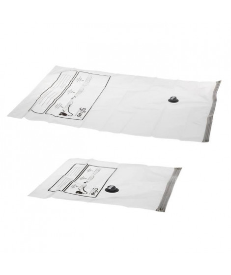 Lot de 2 sacs compresseurs Air-Flat - Transparent