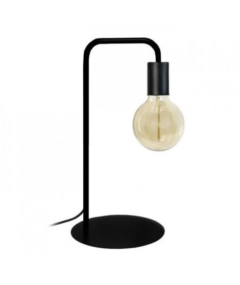NORWICH Lampe a poser en acier - L22 x P18 x H45 cm - Noir - Ampoule LED 4W E27 Noir comprise