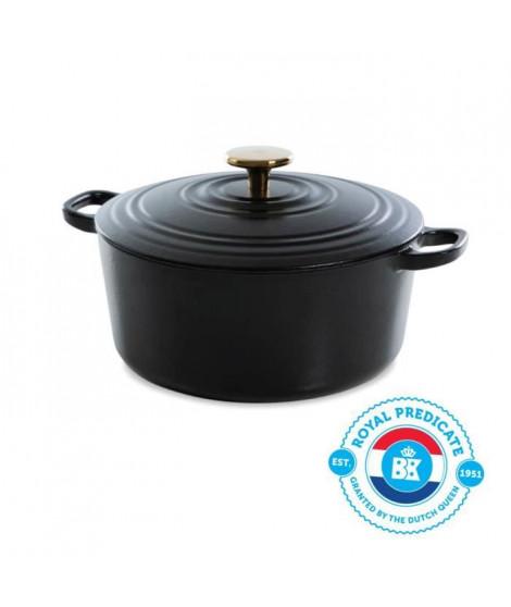 BK Cookware H6079.528 BK Bourgogne Cocotte en Fonte - Ronde - 28 cm - 6.7L - Revetement émaillé - Couvercle avec Anneaux