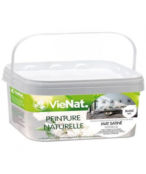 VIENAT Peinture naturelle mur et plafonds mat satinée - 2,5 L - Blanc
