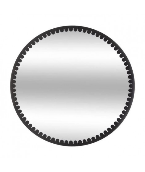 Miroir rond en métal - Ø 70 cm - Noir