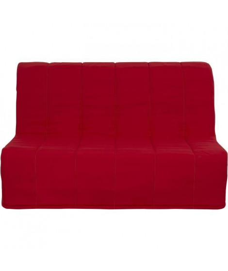MADE IN FRANCE - SIM Banquette BZ - Tissu rouge - L 135 x P 105 x H 87 cm