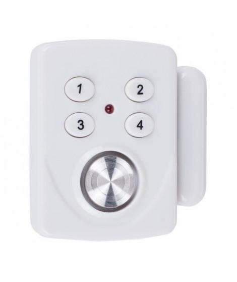 SMARTWARES Mini alarme SC33 détecteur d'ouverture pour porte et fenetre avec clavier a code
