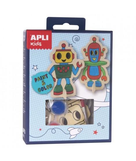 APLI Mini kit peinture Robots - En bois
