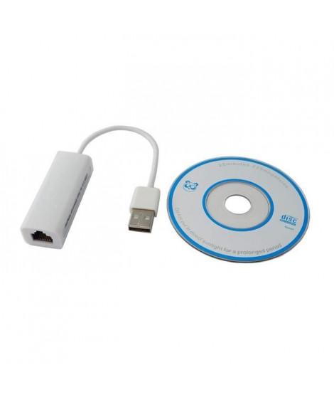 LINEAIRE PCD45 Adaptateur USB A mâle / RJ45 femelle 0m15