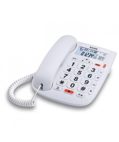 Alcatel TMax 20 Blanc Téléphone Filaire Senior