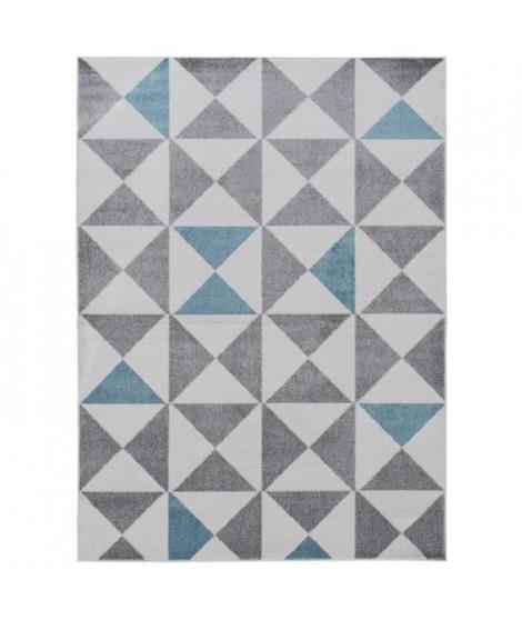 FORSA Tapis de salon en polypropylene - 120 x 160 cm - Bleu