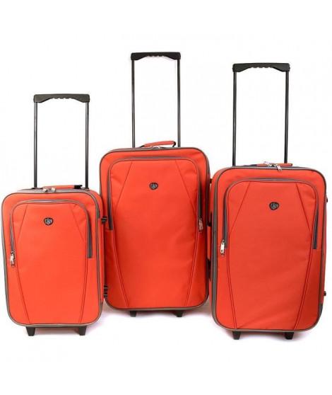 KINSTON  Set de 3 Valises Textiles Copenhague Rouge