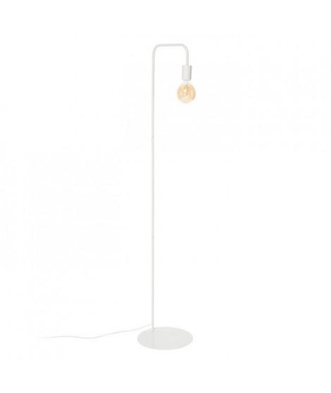 NORWICH Lampadaire en acier - L42 x P30 x H157 cm - Blanc - Ampoule LED 4W E27 comprise