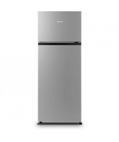 Hisense RT267D4AD1 Réfrigérateur congélateur haut - 205L (164L + 41L)- froid statique - A+ - L55,1x H143 - Inox