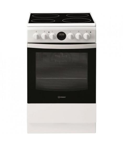 INDESIT IS5V5CCW/E - Cuisiniere table vitrocéramique - 4 zones de cuisson - 1700 W - L 50 cm - Blanc