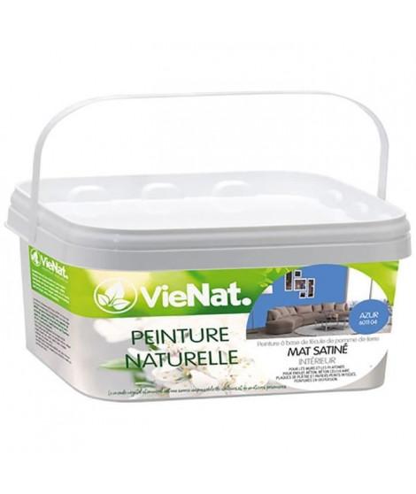 VIENAT Peinture naturelle mur et plafonds mat satinée - 2,5 L - Azur