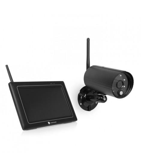 SMARTWARES Kit de surveillance sans fil avec caméra Full HD 1080P et écran 7 pouces CS97DVR
