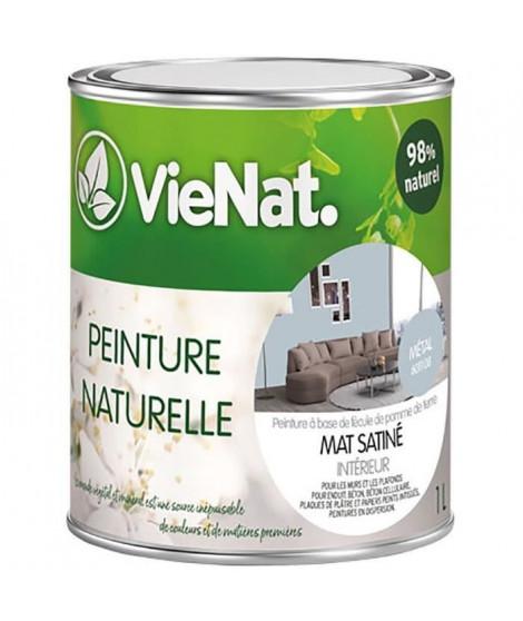 VIENAT Peinture naturelle mur et plafonds mat satinée - 1 L - Métal