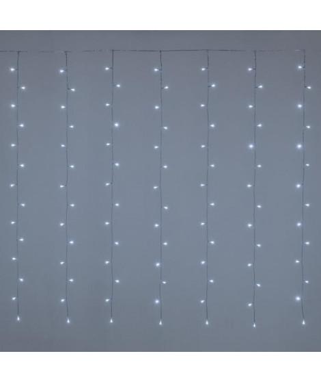 LOTTI Rideau lumineux 182 LED 5 mm - Blanc froid - Contrôleur 7 jeux de lumiere + 1 fixe - L 300 x H 152 cm