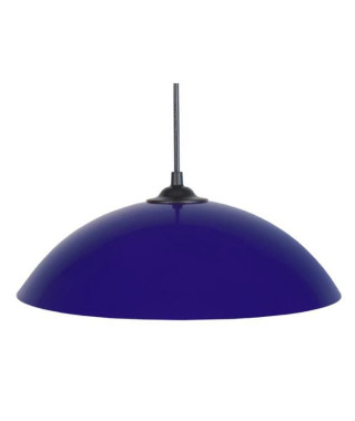 Lustre - suspension Demi-lune E27 25 W Ø29,5 cm Bleu