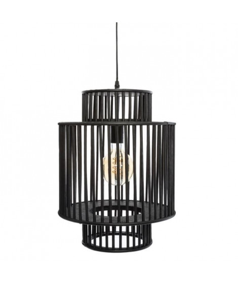 Suspension en bambou - H 45,5 cm - Noir